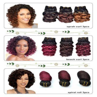 3 Pcs short curl ombre color