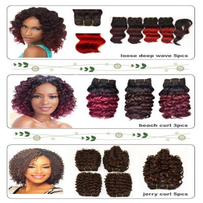 5 Pcs Short Curl