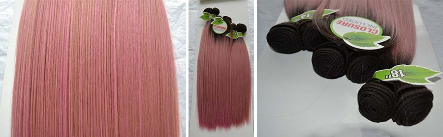 Ombre pink gold